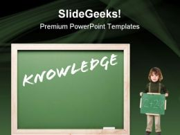 Knowledge Education PowerPoint Templates And PowerPoint Backgrounds 0811