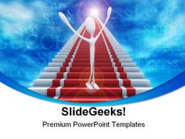 Ladder Success PowerPoint Templates And PowerPoint Backgrounds 0711