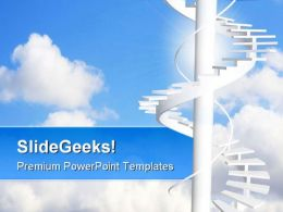 Ladder To Paradise Success PowerPoint Templates And PowerPoint Backgrounds 0711