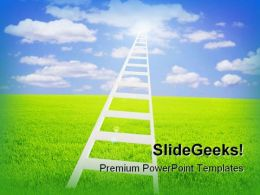 Ladder To Sky Nature PowerPoint Template 1110