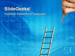 Ladder To Success Future PowerPoint Templates And PowerPoint Backgrounds 0311