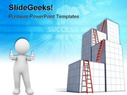 Ladders To Success Business PowerPoint Templates And PowerPoint Backgrounds 0611