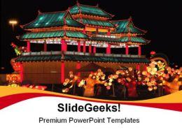 Lantern Festival PowerPoint Template 1110
