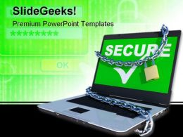 Laptop Security PowerPoint Backgrounds And Templates 1210