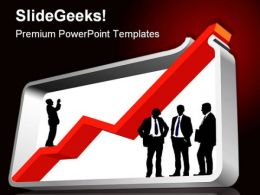 Large Graph Business PowerPoint Template 0910