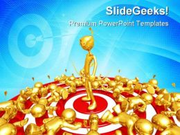 Last Man Standing On Target Business PowerPoint Templates And PowerPoint Backgrounds 0511