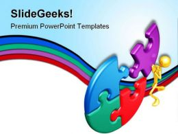 Last Puzzle Business PowerPoint Templates And PowerPoint Backgrounds 0611