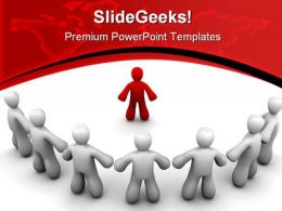 Leader And Team Leadership PowerPoint Backgrounds And Templates 1210