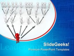 Leader Leadership PowerPoint Templates And PowerPoint Backgrounds 0611