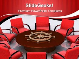 Leader Table Meeting Business PowerPoint Templates And PowerPoint Backgrounds 0611