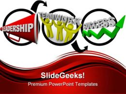 Leadership And Teamwork People PowerPoint Background And Template 1210