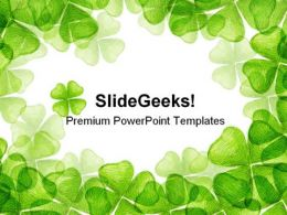 Leaf Clover Nature PowerPoint Templates And PowerPoint Backgrounds 0511