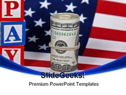 Legal Tender Americana PowerPoint Template 1110
