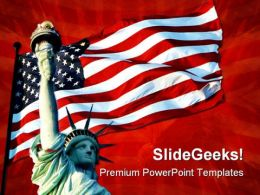 Liberty Symbol PowerPoint Template 1110