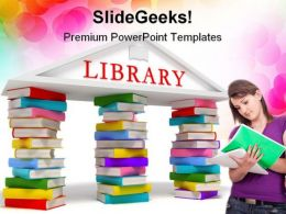 Library Education PowerPoint Backgrounds And Templates 1210