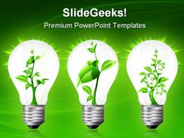 Light Bulb With Sprout Inside Nature PowerPoint Templates And PowerPoint Backgrounds 0411