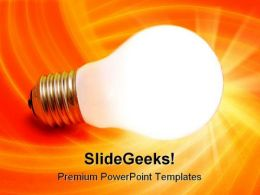 Lit Bulb Business PowerPoint Templates And PowerPoint Backgrounds 0211