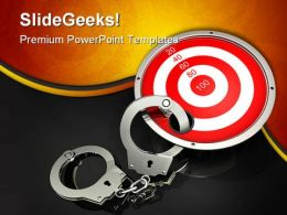 Locked The Target Security PowerPoint Templates And PowerPoint Backgrounds 0211