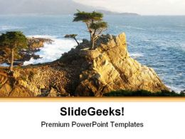 Lone Cypress Monterey Beach PowerPoint Templates And PowerPoint Backgrounds 0511