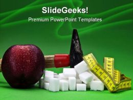 Loosing Weight Health PowerPoint Templates And PowerPoint Backgrounds 0611