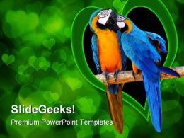 Love Birds Animals PowerPoint Templates And PowerPoint Backgrounds 0111