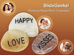 Love Engraved On Stone Youth PowerPoint Templates And PowerPoint Backgrounds 0711