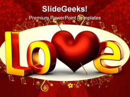 Love Wedding PowerPoint Templates And PowerPoint Backgrounds 0711