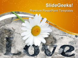 Love With Flower Religion PowerPoint Templates And PowerPoint Backgrounds 0611
