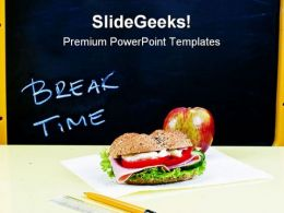 Lunch Break Education PowerPoint Templates And PowerPoint Backgrounds 0611