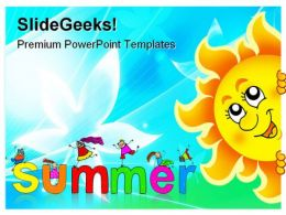 Lurking Sun On Sky Vacation PowerPoint Templates And PowerPoint Backgrounds 0711