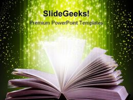 Magic Book Metaphor PowerPoint Templates And PowerPoint Backgrounds 0211