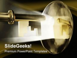 Magic Key Business PowerPoint Template 0910