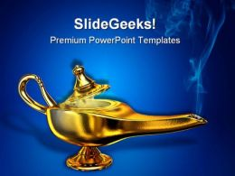 Magic Lamp Business PowerPoint Templates And PowerPoint Backgrounds 0711