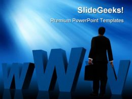 Man And Web Internet PowerPoint Templates And PowerPoint Backgrounds 0311