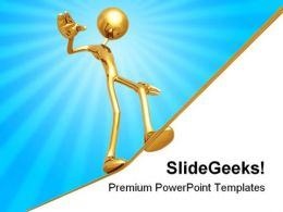 Man Balancing Business PowerPoint Background And Template 1210