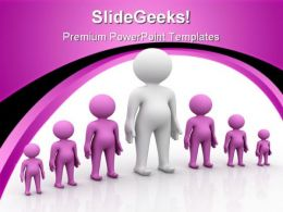 Man Standing Out From Crowd Leadership PowerPoint Templates And PowerPoint Backgrounds 0611