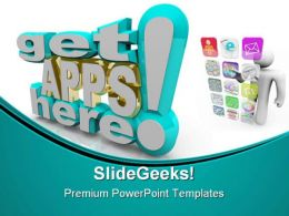 Many Applications Technology PowerPoint Templates And PowerPoint Backgrounds 0411