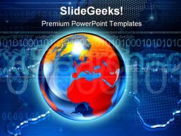 Map Globe PowerPoint Backgrounds And Templates 1210