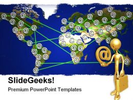 Map Internet PowerPoint Backgrounds And Templates 1210