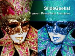 Mardigras Mask Art PowerPoint Templates And PowerPoint Backgrounds 0711