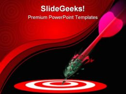 Marketing Target Winner Business PowerPoint Templates And PowerPoint Backgrounds 0811