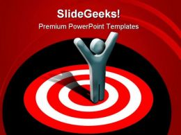 Marketing Target Winner Success PowerPoint Templates And PowerPoint Backgrounds 0811