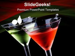 Martini Food PowerPoint Templates And PowerPoint Backgrounds 0411