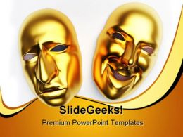 Mask Entertainment PowerPoint Backgrounds And Templates 0111