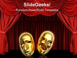 Masks Entertainment PowerPoint Templates And PowerPoint Backgrounds 0811