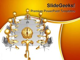 Mastermind Meeting Business PowerPoint Templates And PowerPoint Backgrounds 0211