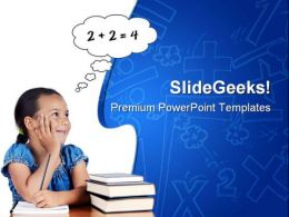 Mathematics Children Education PowerPoint Backgrounds And Templates 1210
