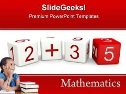 Mathematics Education PowerPoint Template 0610