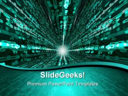 Matrix Binary Background PowerPoint Templates And PowerPoint Backgrounds 0611