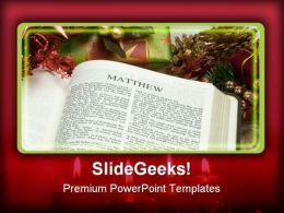 Matthew Religion PowerPoint Template 0610